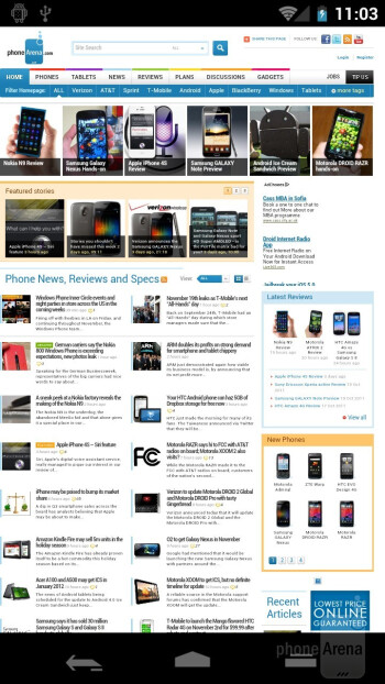 The overhauled Browser - Samsung Galaxy Nexus Preview