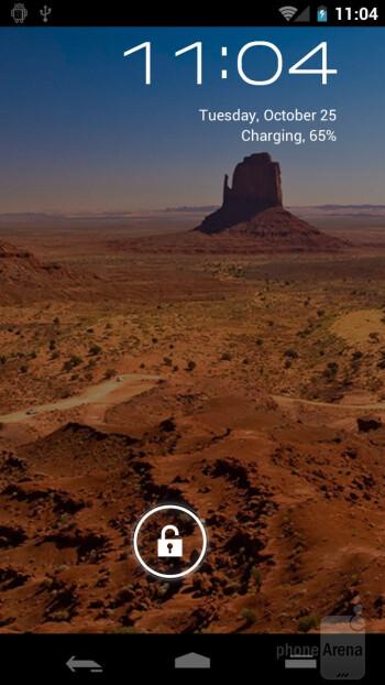 Lock screen - Samsung Galaxy Nexus Preview