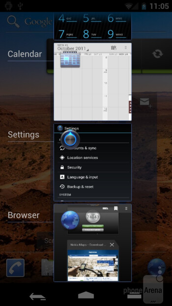 Multitasking - Samsung Galaxy Nexus Preview