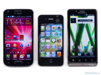 Apple iPhone 4S vs Motorola DROID BIONIC vs Samsung Galaxy S II T-Mobile