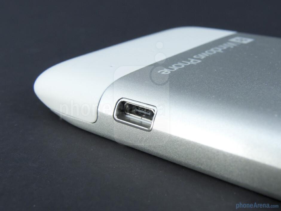 microUSB port - HTC Radar 4G Review