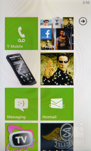 The interface of the HTC Radar 4G - HTC Radar 4G Review