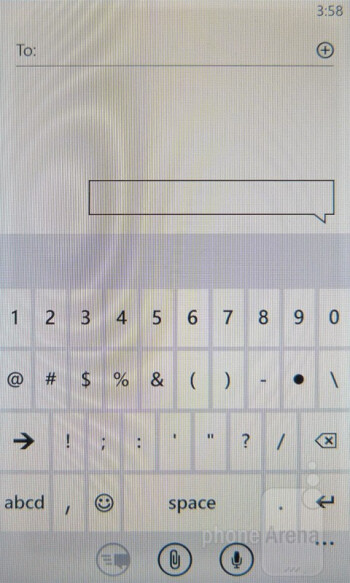 The keyboard found with Windows Phone is wickedly fast and responsive - HTC Radar 4G Review