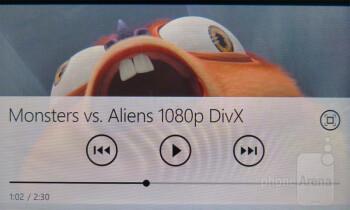 Video playback - HTC Radar 4G Review