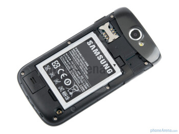 Battery compartment - Samsung GALAXY W Review
