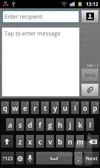 Оn-screen keyboard - Samsung GALAXY W Review