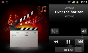 The music player - Samsung GALAXY W Review