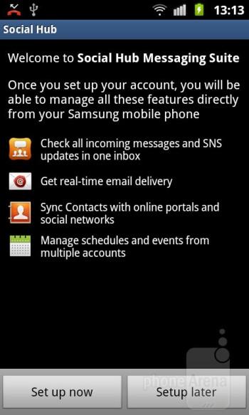 Social Hub - Samsung GALAXY W Review
