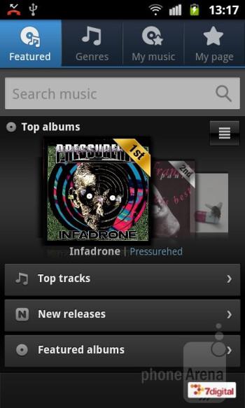 Music Hub - Samsung GALAXY W Review