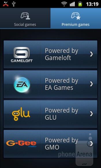 Game Hub - Samsung GALAXY W Review
