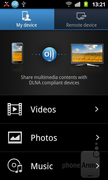 AllShare - Samsung GALAXY W Review