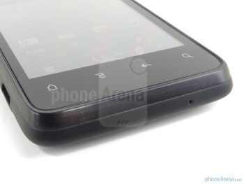 Capacitive buttons below the qHD Super LCD display - HTC EVO Design 4G Review