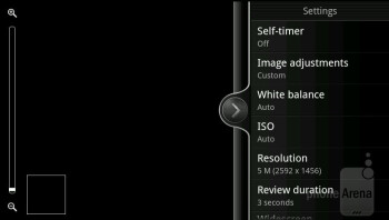 Camera interface - HTC EVO Design 4G Review