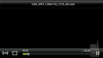 Video player - HTC EVO Design 4G Review