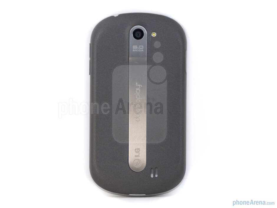 The rear is home to the handset's 5-megapixel auto-focus camera with LED flash - LG DoublePlay Review