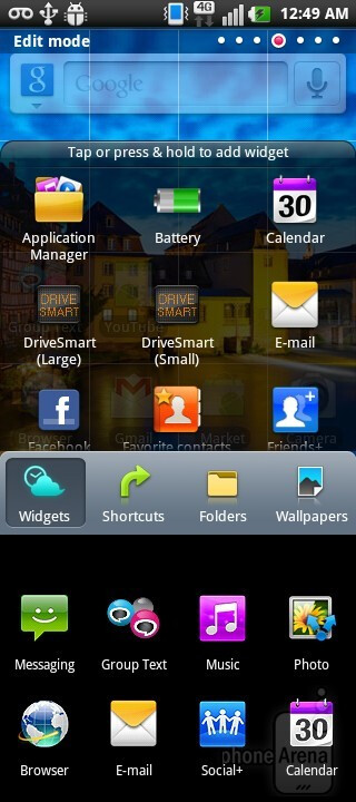 The LG Doubleplay features LG's Optimus skin, which is running on top of Android 2.3.4 Gingerbread - LG DoublePlay Review