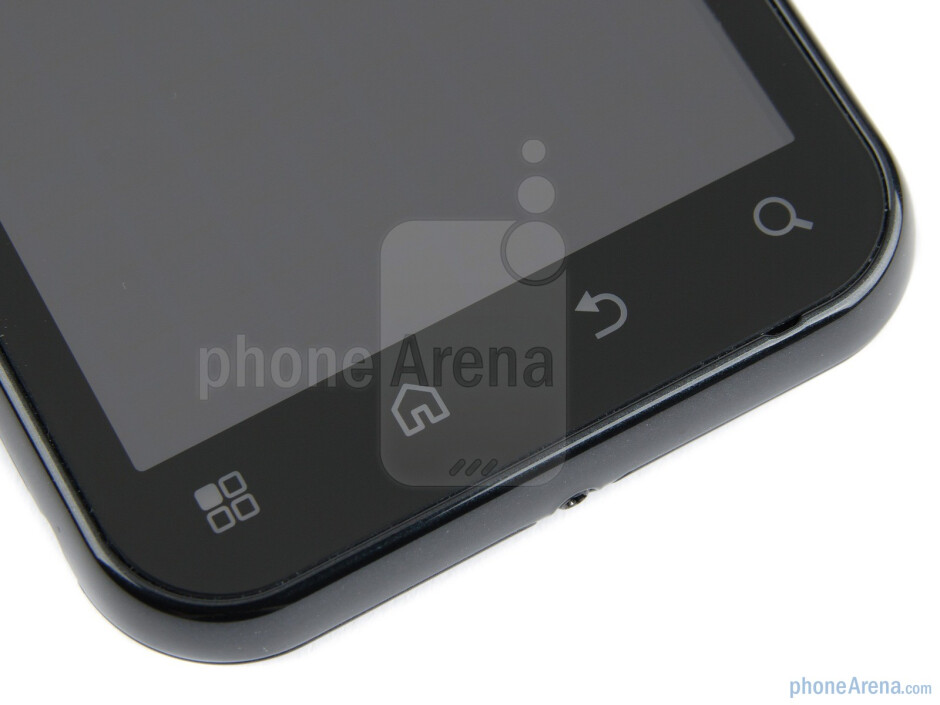 Capacitive control buttons - Motorola DEFY+ Review