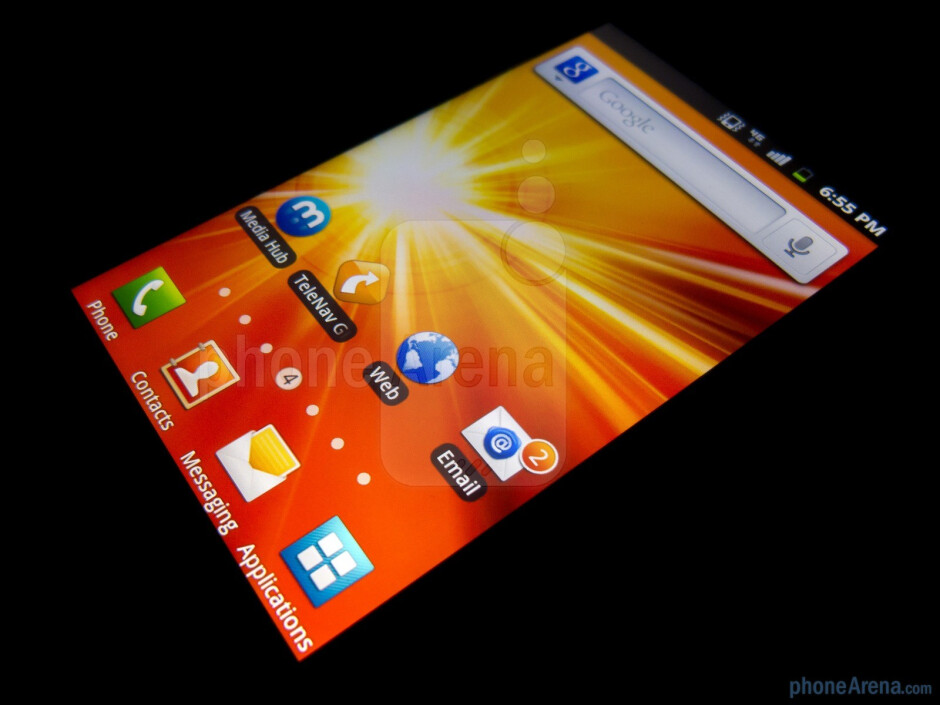 """The Samsung Exhibit II 4G features a 3.7"""" WVGA display - Samsung Exhibit II 4G Review"""