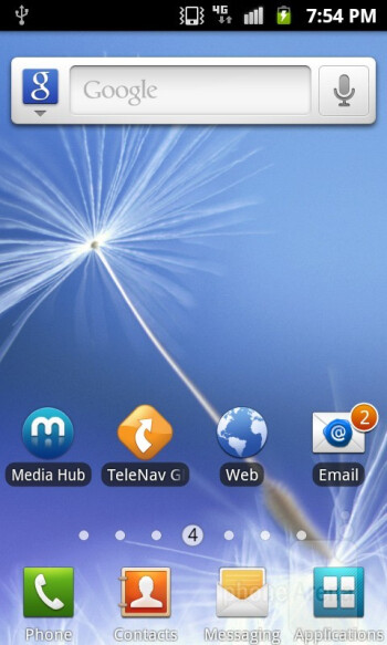 The Samsung Exhibit II 4G features the latest TouchWiz UI running on top of Android 2.3.5 Gingerbread - Samsung Exhibit II 4G Review