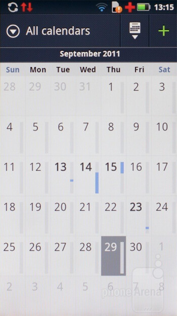 Calendar - Motorola has also placed its marked on some of the core apps - Motorola DEFY+ Review