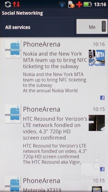 Social networking - Motorola DEFY+ Review