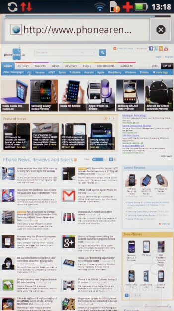 The browser on the DEFY+ handles flash content - Motorola DEFY+ Review