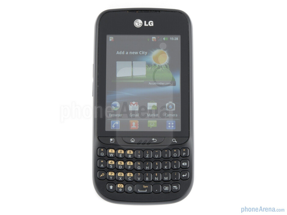 The portrait QWERTY layout of the LG Optimus Pro is very usable because of its chiclet style - LG Optimus Pro Review