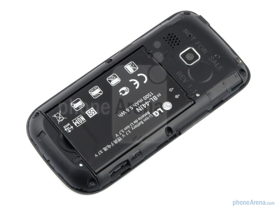 Battery compartment - LG Optimus Pro Review
