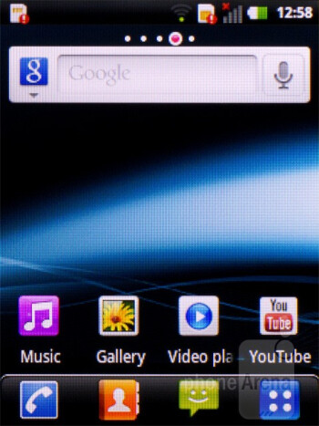 The Android 2.3 Gingerbread is overlayed with the Optimus UI of LG - LG Optimus Pro Review