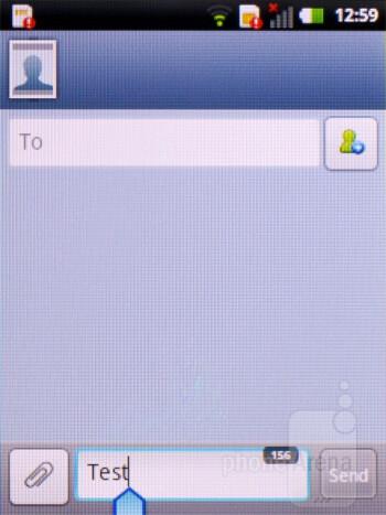 Messaging - LG Optimus Pro Review