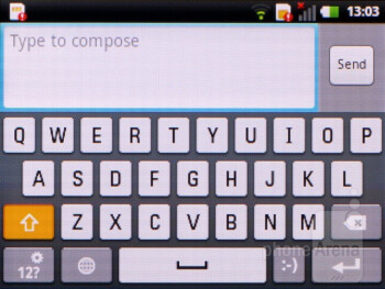 On-screen keyboard - LG Optimus Pro Review