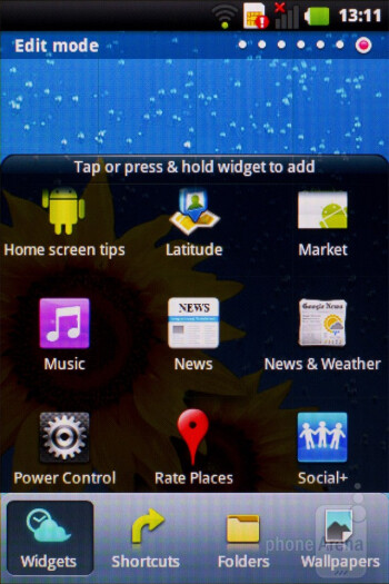 The Android 2.3 Gingerbread is overlayed with the Optimus UI on the LG Optimus Net - LG Optimus Net Review