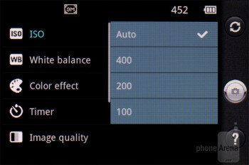 Camera interface - LG Optimus Net Review