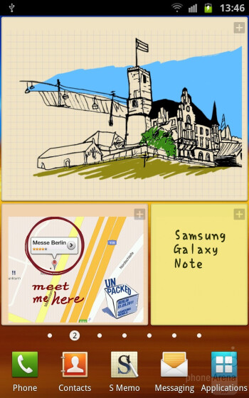 The Samsung Galaxy Note runs Android 2.3 Gingerbread - HTC One X vs Samsung Galaxy Note