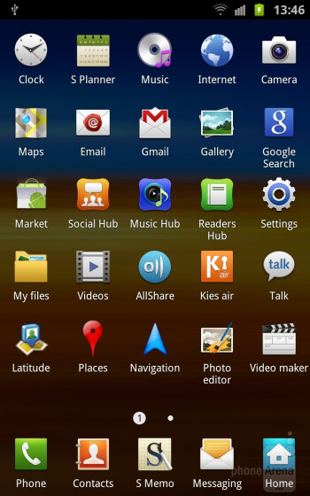 Interface of the Samsung Galaxy Note - Samsung Galaxy Note II vs Galaxy Note