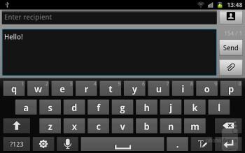 Virtual keyboard of the Samsung Galaxy Note - Samsung Galaxy S III vs Samsung Galaxy Note