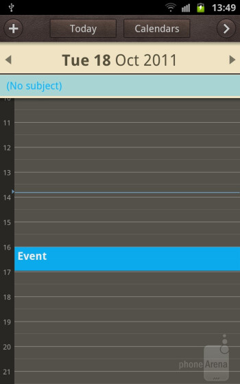 S Planner on the Samsung Galaxy Note - Samsung Galaxy Note II vs Galaxy Note