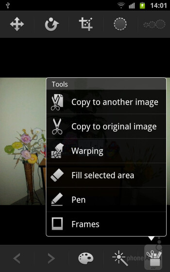 The Photo Editor app - Samsung GALAXY Note Review