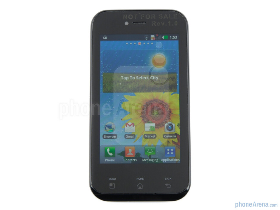"""The 3.8''  """"Ultra AMOLED"""" display - LG Optimus Sol Preview"""
