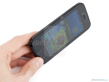 Because if its dimensions, the LG Optimus Sol can be easily used with a single hand - LG Optimus Sol Preview