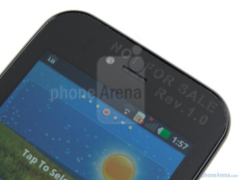 Front facing camera - LG Optimus Sol Preview
