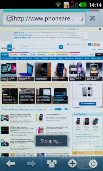 Internet browser - LG Optimus Sol Preview