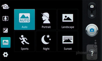Camera interface - LG Optimus Sol Preview