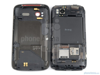The battery compartment - HTC Sensation XE Review