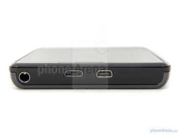 3.5mm jack, microUSB and microHDMI ports on top - Motorola DROID RAZR Review