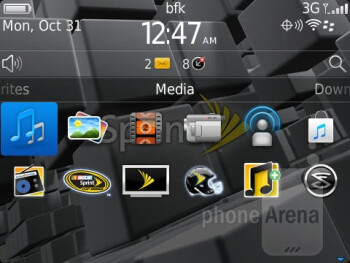 In addition to all of the standard app there are ones for social networking - RIM BlackBerry Curve 9350 Review