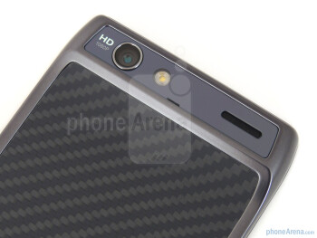 Camera with flash and speaker grill - Motorola DROID RAZR Review