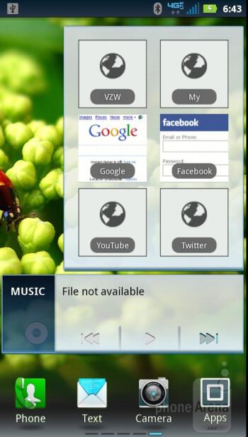 The  interface of the Motorola DROID RAZR - Verizon Galaxy Nexus vs Motorola DROID RAZR