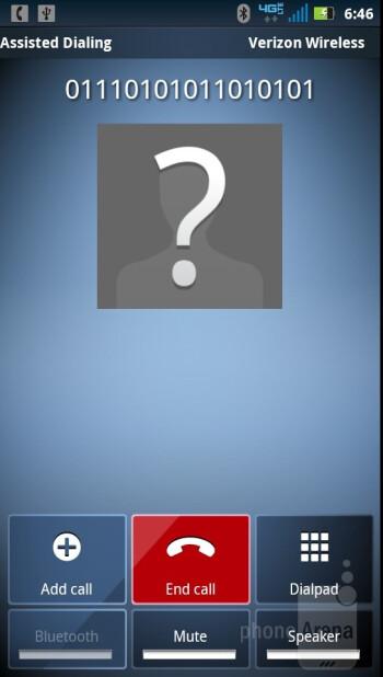 The contacts app - Motorola DROID RAZR Review