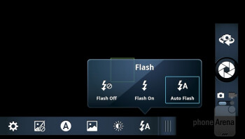The Camera  interface of Motorola DROID RAZR - Motorola DROID RAZR vs HTC Rezound
